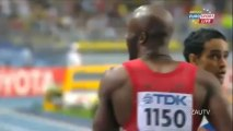 LaShawn Merritt (43.74) wins Gold in the men's 400m at the IAAF World Athletics Championships.