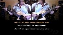 De Palmas - une seule vie - guitare et karaoké
