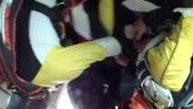 PARACHUTISME - CHAMPIONNATS DE FRANCE VICHY 2013 – Freestyle « Figure2Style Perros Vannes Saut4»- 9aout13.wmv