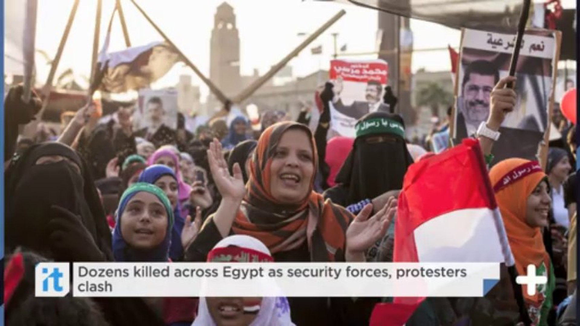 Egypt bloodshed: At least 56 killed as troops clear pro-Morsi camps
