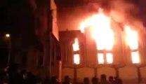 Les pro-Morsi incendient l'église de St Moïse à Abu Helal - Minya