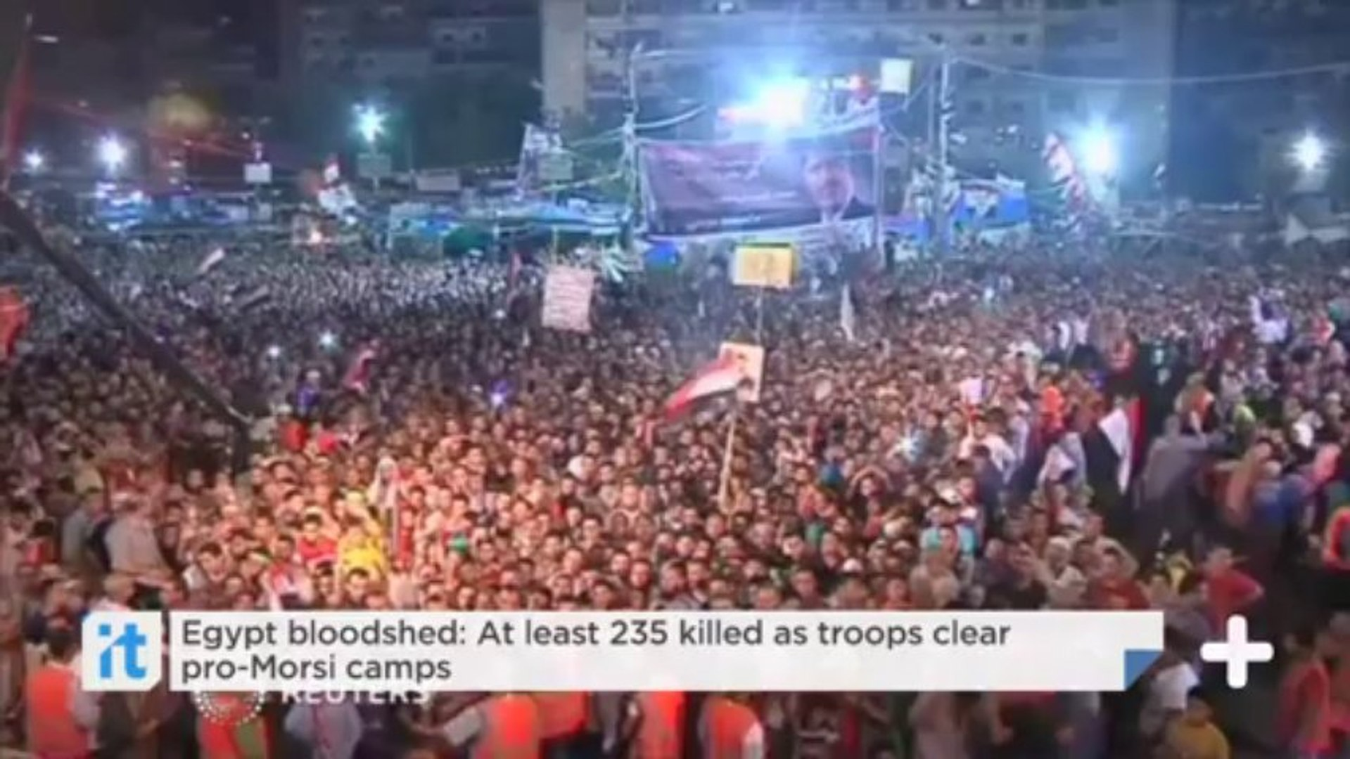 Egypt bloodshed: At least 235 killed as troops clear pro-Morsi camps