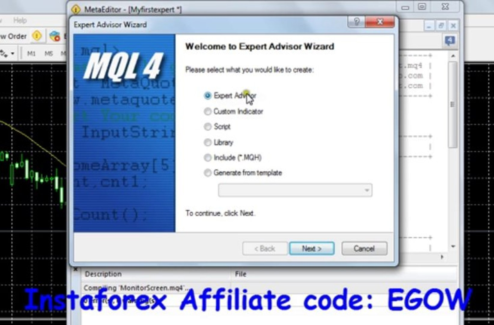 Mql4 Programming tutorial 01 - introduction to Expert