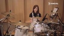 SCANDAL @ Kagen no Tsuki 下弦の月 tutorial insturctional (Rina PART) drum 初回限定盤Aには、メンバー直伝の教則DVD付き