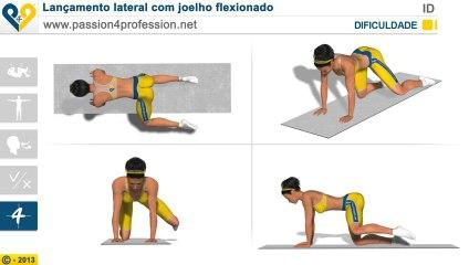Lançamento lateral com joelho flexionado