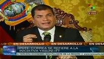 Ecuador anuncia fin de Iniciativa Yasuní-ITT, ante poco respaldo
