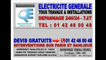 PARIS 17eme - 18eme - URGENCE ELECTRICITE - TEL: 0142460048 - DEPANNAGE 24H/24 7J/7 - ARTISAN ELECTRICIEN AGREE HAUTEMENT QUALIFIE