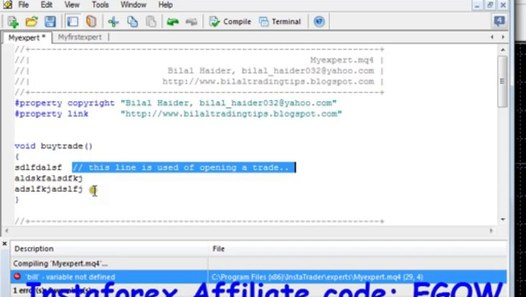 Mql4 Programming tutorial 04 - Scope of Variables,Comments