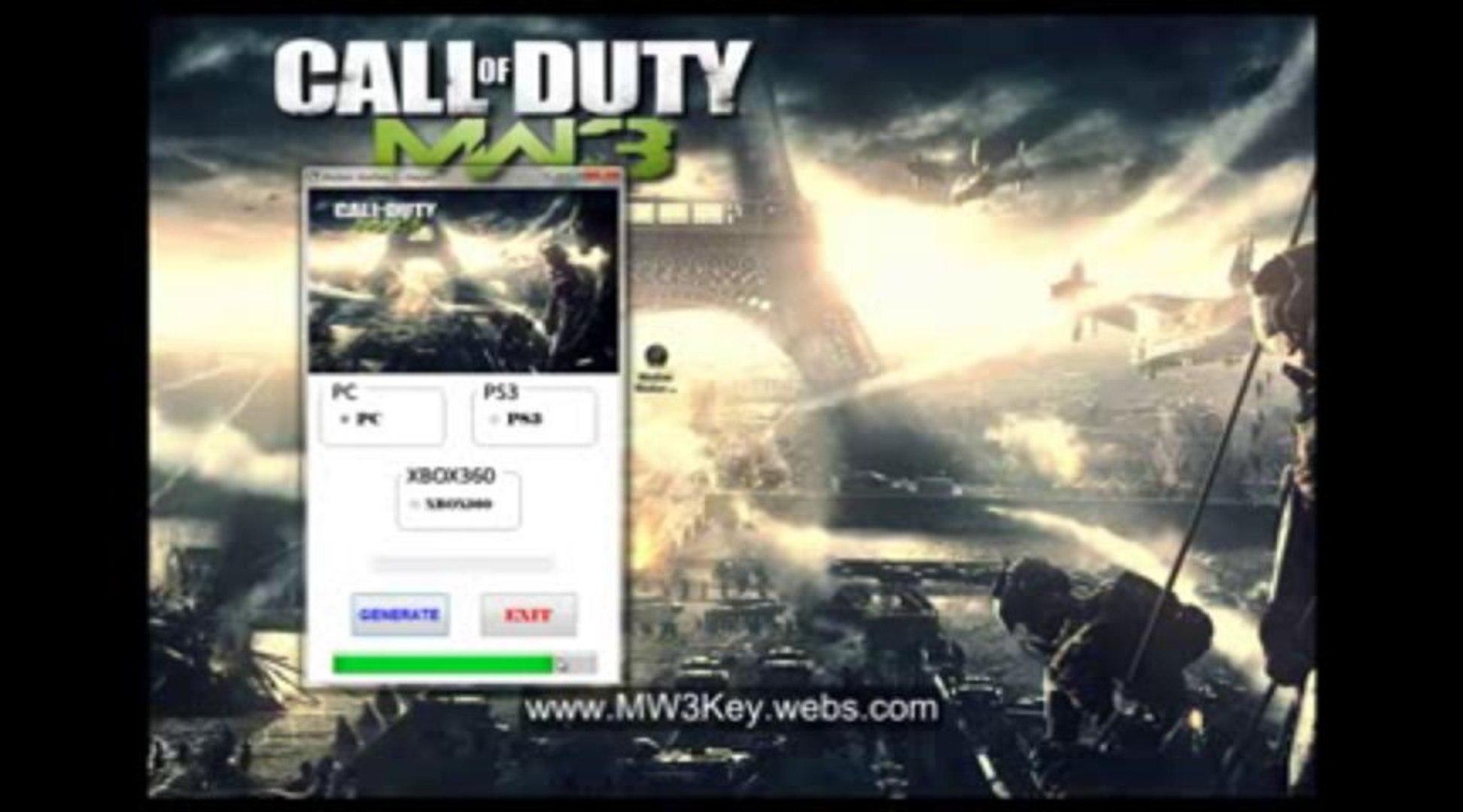 Modern Warfare 3 Keygen Key Generator Pc Ps3 Xbox360 Video