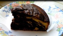 recette de cuisine - Le gâteau marbré chocolat vanille