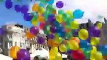 Lâcher de ballons sur la plage de l'hôtel de ville de Saint-Quentin.