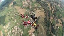 PARACHUTISME - CHAMPIONNATS DE FRANCE VICHY 2013 - VR4 «Le 4 Crétins Fly Zone Clermont Saut7»- 11aout13
