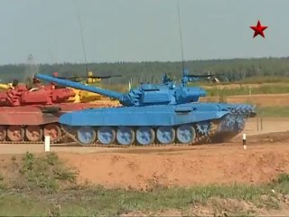 Biathlon de tanks en Russie