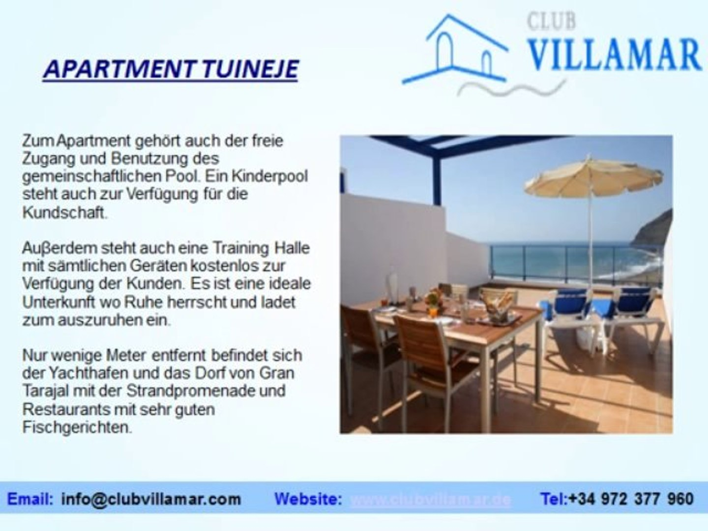 Club Villamar - Bosta Spanish villas for rent