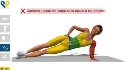Plank laterale in appoggio sul gomito