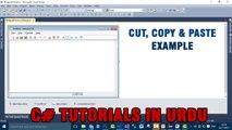 Part 12 - Create notepad using C# In Urdu (Cut, Copy & Paste Example)