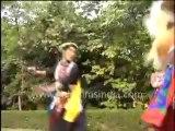 22.Dancers from Arunachal Pradesh in traditional costumes_ performing Folk dance