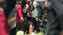 Kim Kardashian, Kanye West and Baby North West Attend Funeral In First Family Outing
