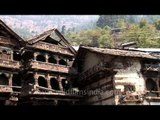 Old wooden buildings: Harsil Mukhba valley