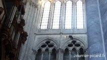 Prise de vue par un drone à la cathédrale d'Amiens
