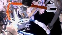 Russian cosmonauts spacewalk outside ISS
