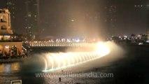 musical fountain in dubai city