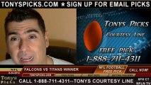 Tennessee Titans vs. Atlanta Falcons Pick Prediction NFL Pro Football Odds Preview 8-24-2013