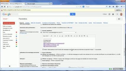 Gmail : Le paramétrage