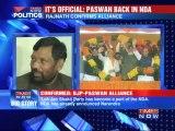 Ram Vilas Paswan back in BJP :It's official