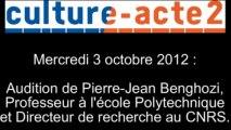 Mission culture-acte2 | audition de Pierre-Jean Benghozi, Professeur à l'école Polytechnique et Di