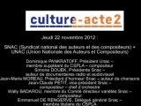 Mission culture-acte2 | SNAC et UNAC [audio]