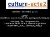 Mission culture-acte 2 | Audition de l'ADAGP (Société des auteurs dans les arts graphiques et pl