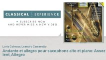 André Chailleux   Andante et allegro pour saxophone alto et piano   Assez lent, Allegro
