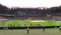 PSG - Guingamp : Entrée des joueurs du Paris Saint Germain sur la pelouse du Parc des Princes