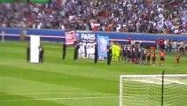 PSG - Guingamp : Entrée des joueurs sur la pelouse du Parc des Princes