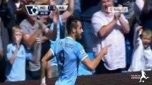 اهداف مباراة مانشستر سيتي وهال سيتي 2-0