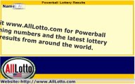 Powerball Lottery Drawing Results for August 31, 2013