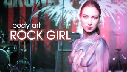 """Rock Girl"" body art"
