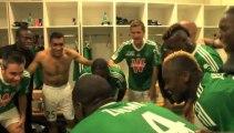 La joie des Verts après ASSE 2 -1 Bordeaux