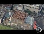 Tornado devasta est del Giappone, le immagini aeree del disastro. Colpite Noda City e Koshigaya, una trentina i feriti