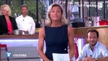 """Les premiers pas et les premières blagues d'Anne-Sophie Lapix dans """"C à vous"""""""
