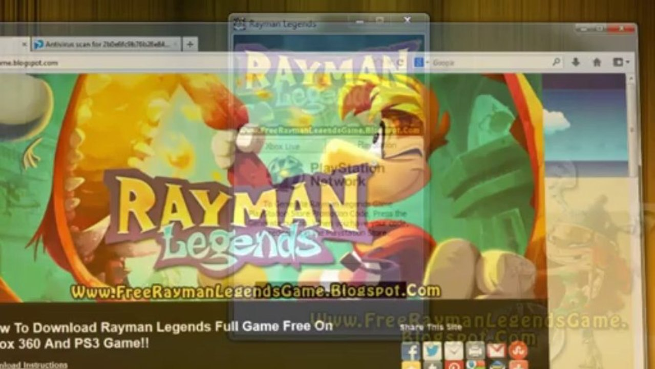 Rayman Legends Game Code Free Giveaway - Xbox 360 - PS3