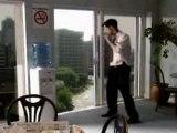 Fumer sur le balcon