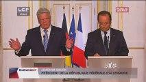 Conférence de presse de François Hollande suite à la visite d'Etat de M. Joachim Gauck