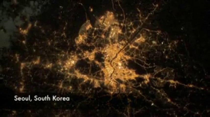 Uzay'dan Görüntülenen Şehir Işıkları!