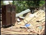 Wild elephants destroyed the tenements, Assam