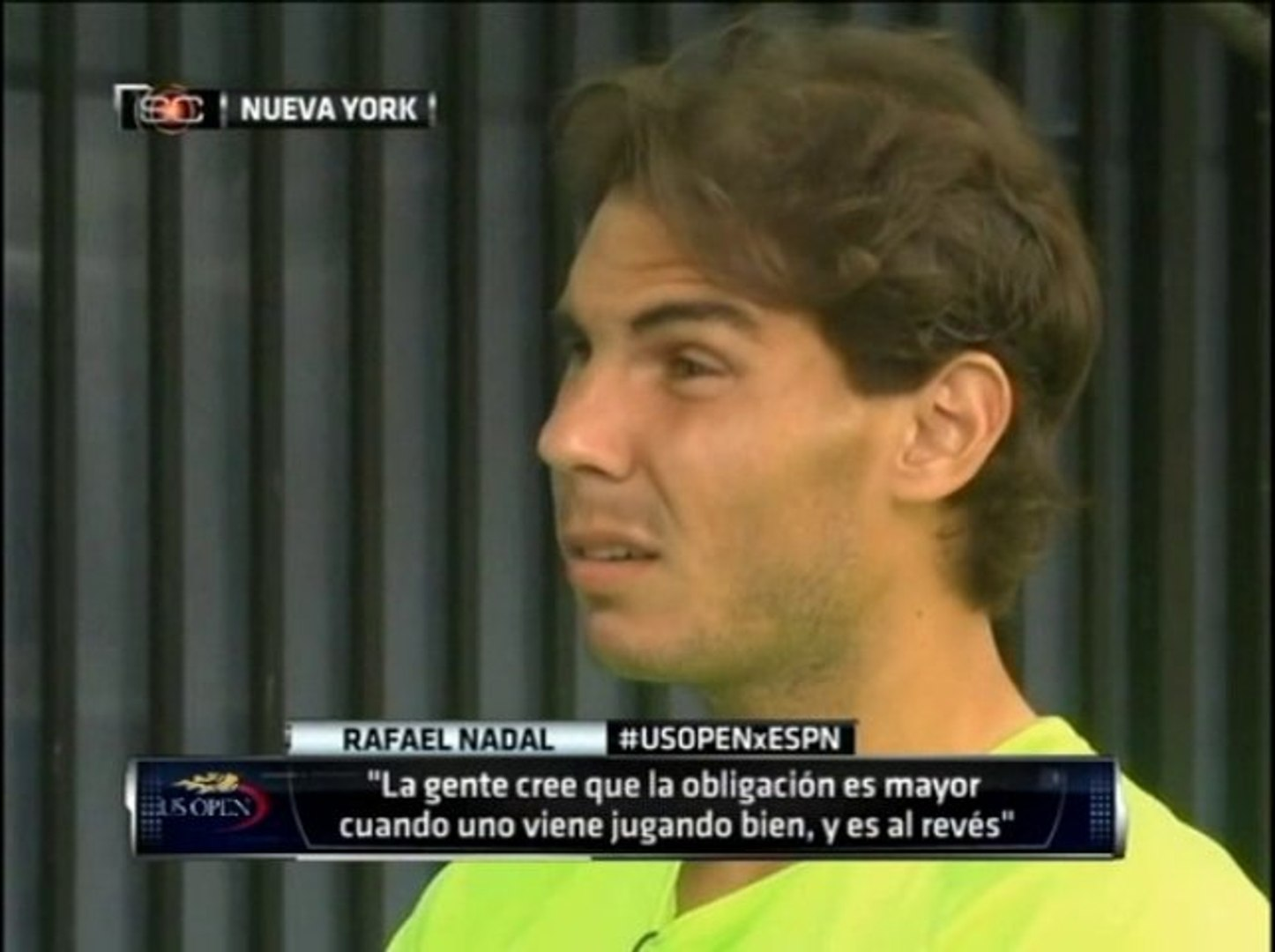 Rafael Nadal S Interview For Espn Deportes In Nyc In Spanish Video Dailymotion