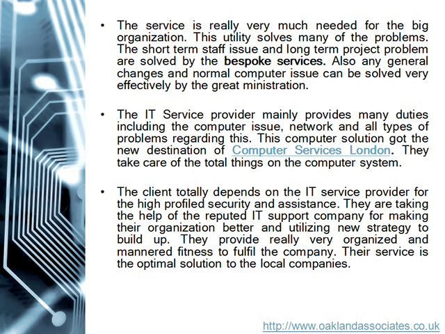 The IT support service saving the services