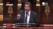 'Syria debate in French parliament' (recorded live feed) [Euronews]