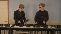 Medley Daft Punk sur des tubes de PVC